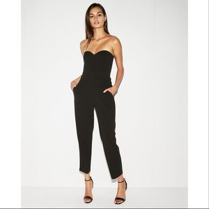Pants - Strapless Jumpsuit with Pockets